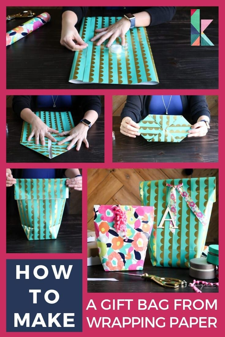 How to make a gift bag from wrapping paper how to make a