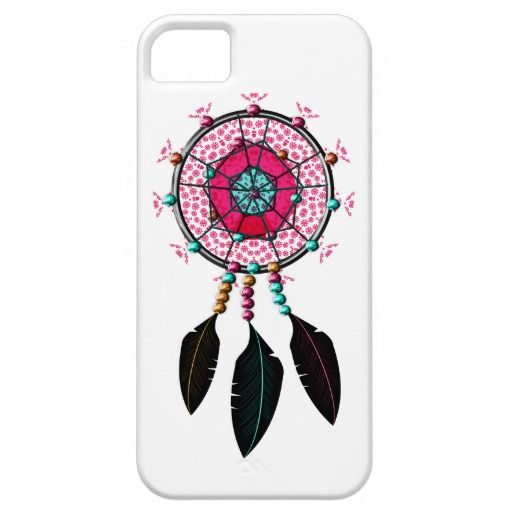 Indian Dream Catcher Teal Pink and Orange Phone Cases.  Catch a dream with this pretty phone case design, a magical Indian feathered dream catcher in lovely shades of pink, teal and orange. A stylish way to protect your phone.