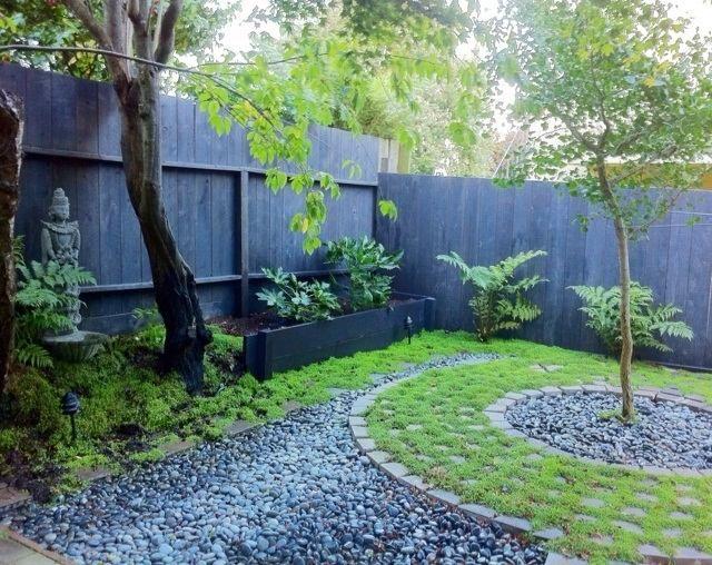 asiatisch anmutender garten-landschaftsbau kieswege | japaness, Garten ideen