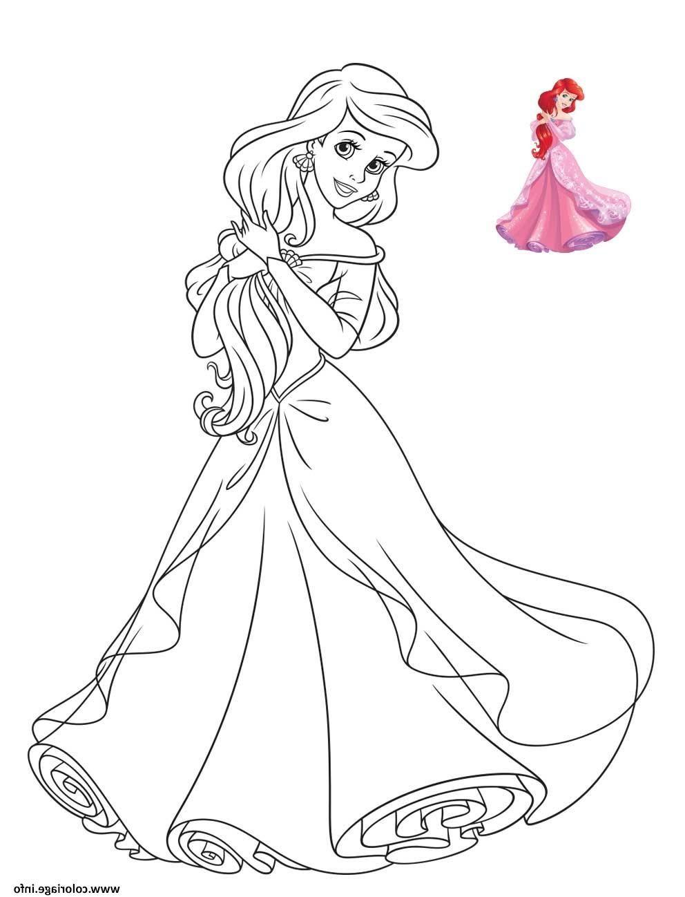 18 Beau De Coloriage Disney A Imprimer Collection  Ariel coloring