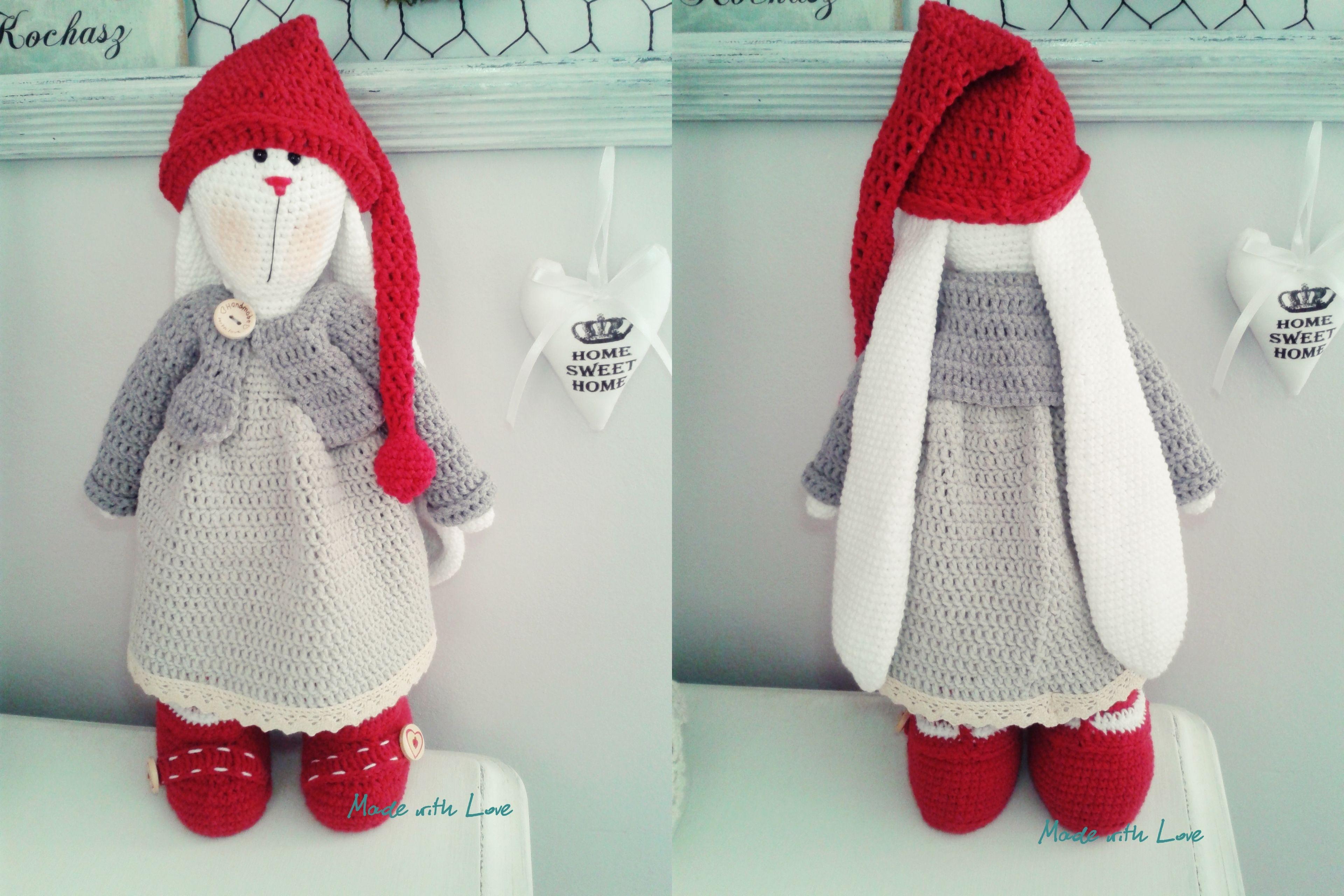 Amigurumi Bunny Pencil Holder : Amigurumi tilda zając bunny christmas królik amigurumi