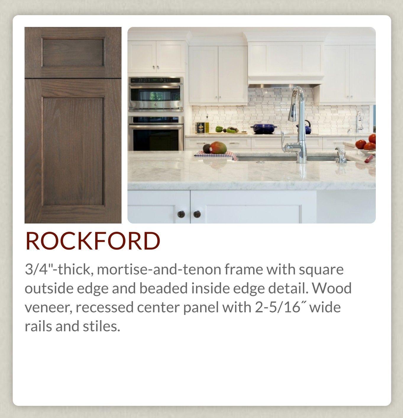 UltraCraft Rockford Kitchen, Mortise, tenon, Wood veneer