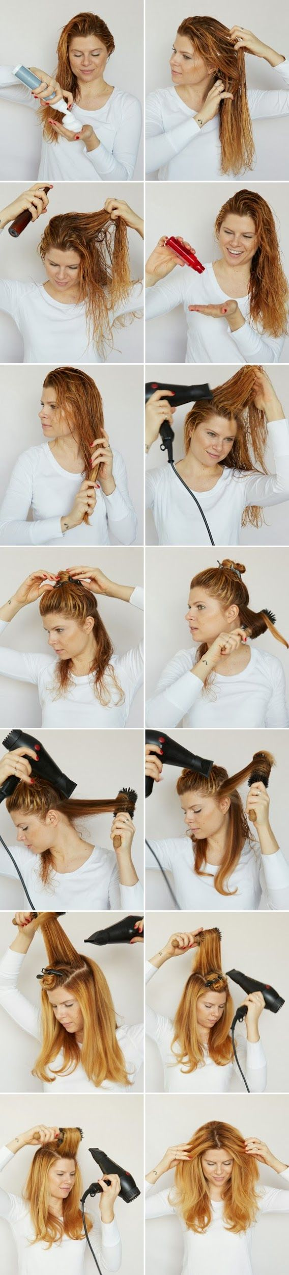 How To Blow Dry Your Hair Like A Hair Stylist A Cup Of Jo Hair Beauty Blow Dry Hair Hair Styles