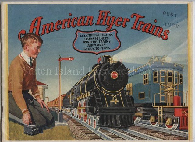 American Flyer Trains catalog, front cover, 1930 (With ...
