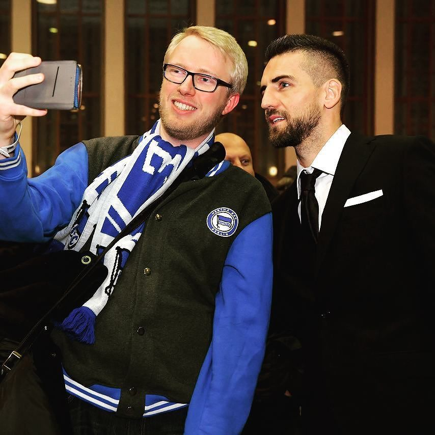 Schnell noch n Selfie mit @vedad.ibisevic  #hahohe