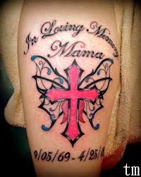 Cross And Butterfly Tattoo Designs Google Search Rip Tattoos For Mom Cross With Wings Tattoo Remembrance Tattoos