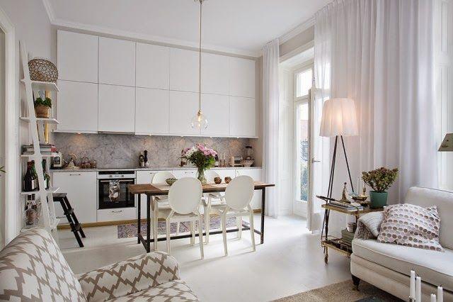 Virlova interiorismo interior femenino y elegante mini for Cocinas apartamentos pequenos