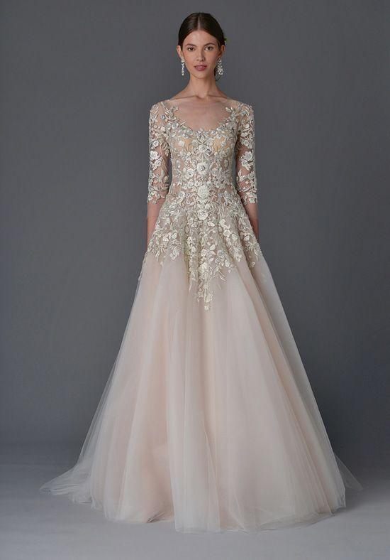 Marchesa Dhalia A-Line Wedding Dress | robe de mariee | Pinterest ...
