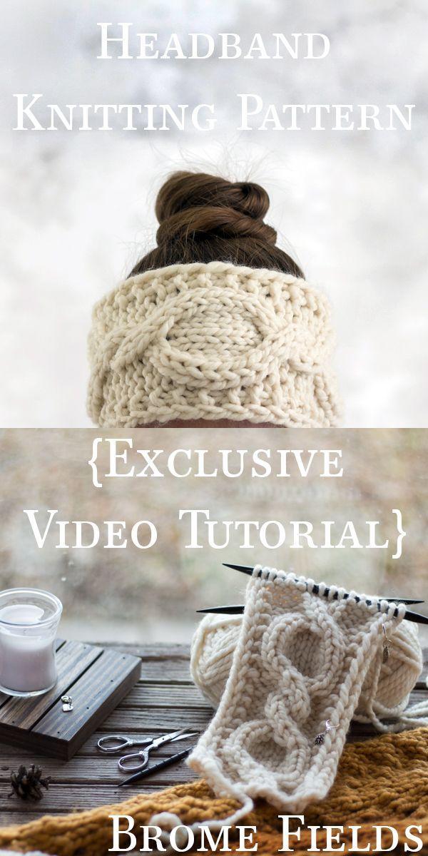 Legacy Headband Knitting Pattern by Brome Fields | de punto en punto ...