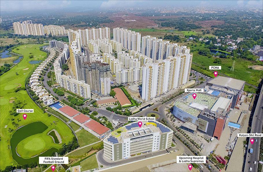 View and download details on ready to move in lodha palava