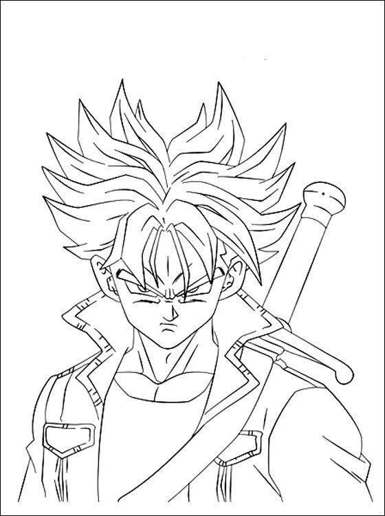 Kinder Ausmalbilder Manga In 2020 Ausmalbilder Goku Zeichnung Ausmalbilder Kinder