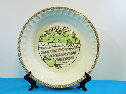 https://beckalar.com/product/vintage-jeannette-royal-china-green-apple-deep-dish-pie-plate-wrecipe/ Apple Deep Dish Pie Plate
