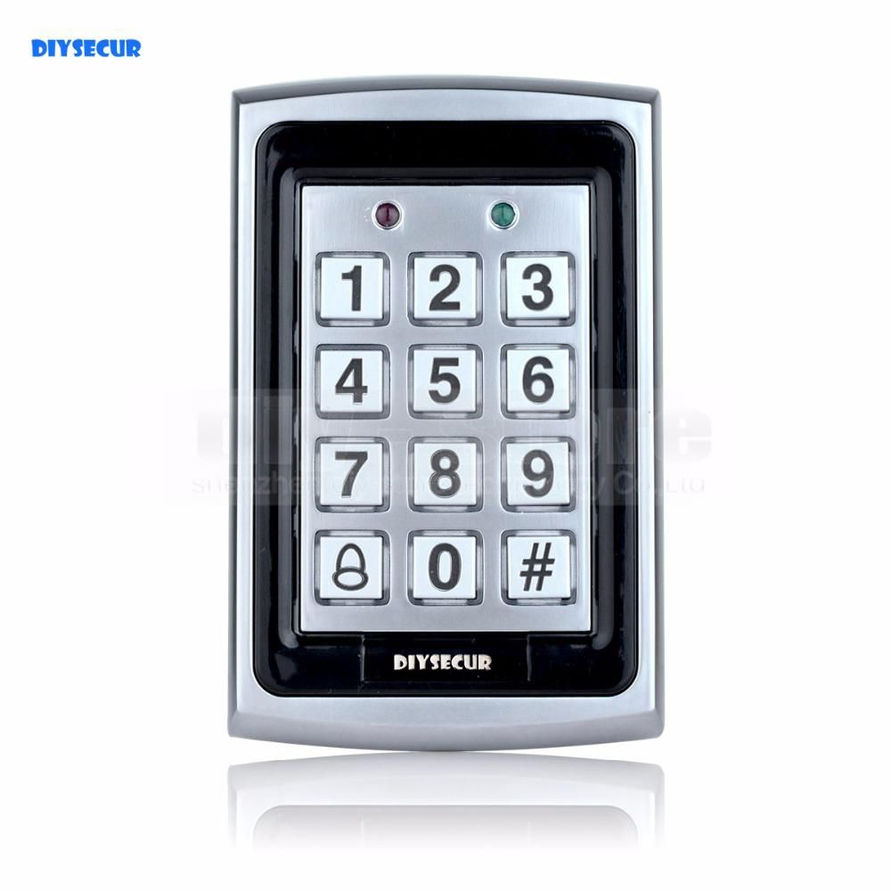 Diysecur Rfid Id Card Reader Entry Metal Door Access Control System
