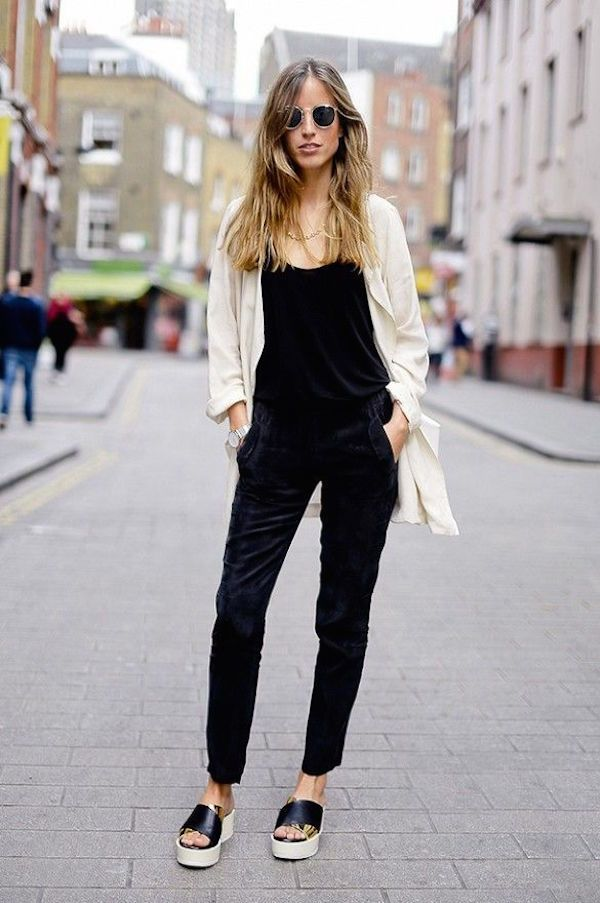 how to accessories a black jumpsuit