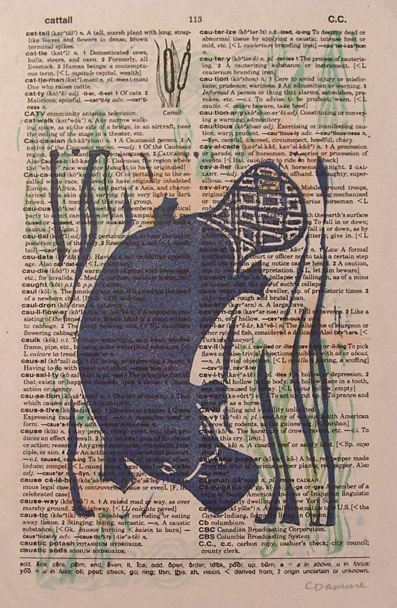 blue platypus block print vintage dictionary page by craftyhag art collectibles prints - Platypus Pictures To Print