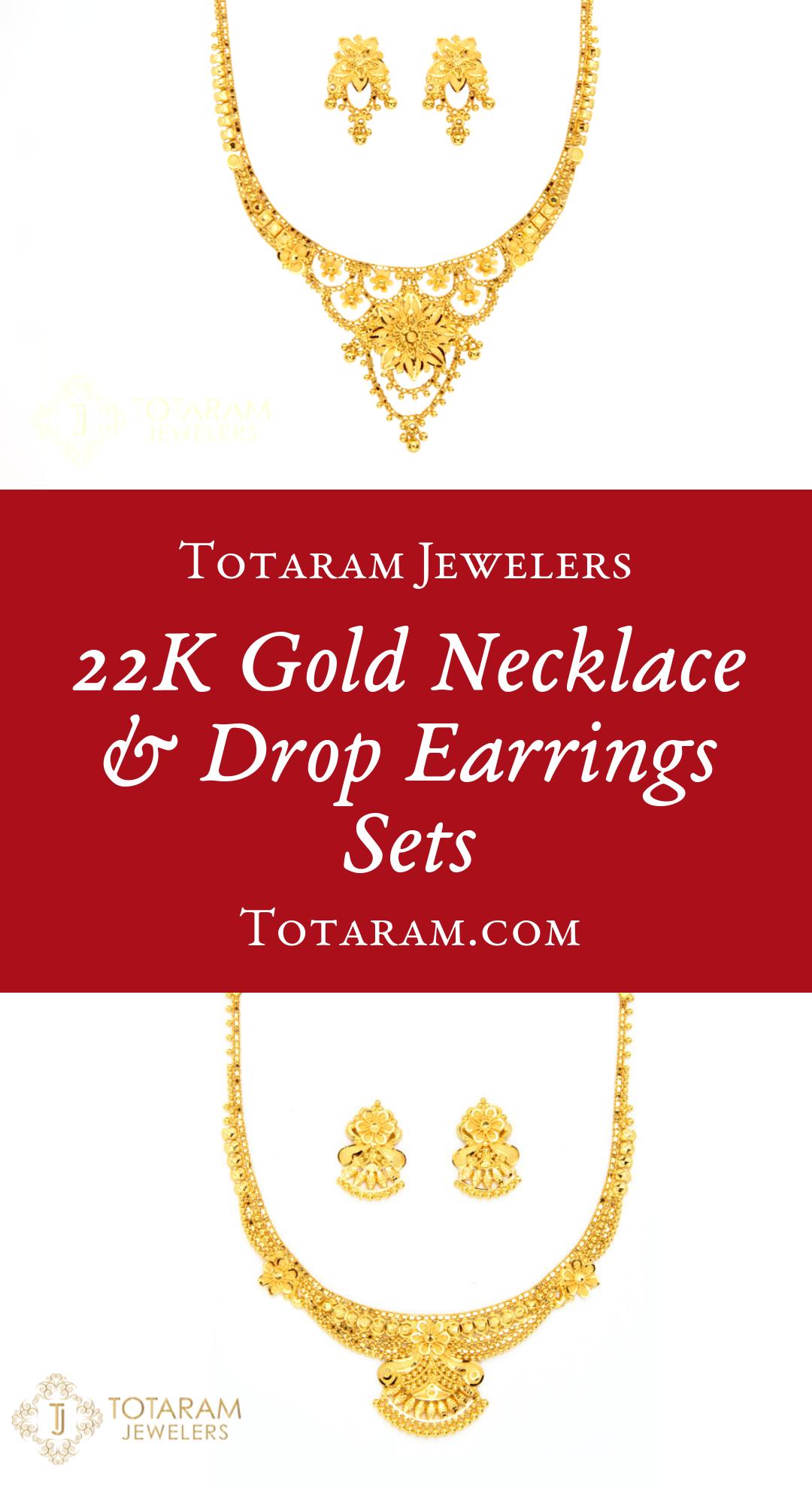22k Gold Necklace Sets 22k Gold Necklace Gold Necklace Gold Necklace Set