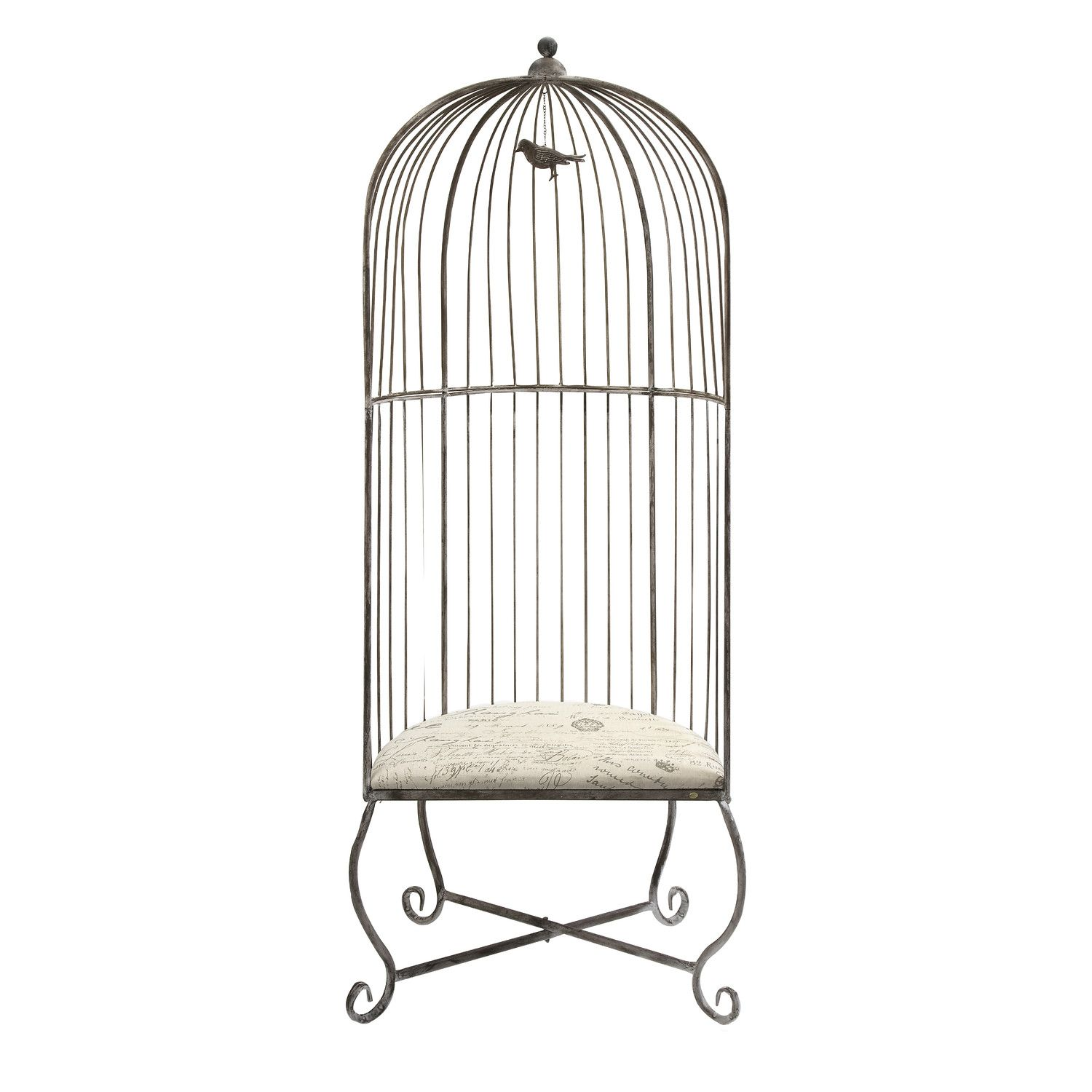 Accent Chair With Cage Bottom: Chair That Looks Like A Half Of The Cage