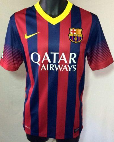3571715e379 Nike Futbol L Large FC Barcelona Mens Home Soccer Jersey 2014 New NWT