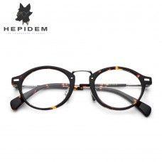 7a52533023 Acetate Optical Glasses Frame Men Metal Small Vintage Round Prescription  Eyeglasses 2018 Fashion Women Myopia Spectacles