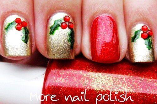 34 striped christmas nail art designs - Easy Christmas Nail Art For Short Nails