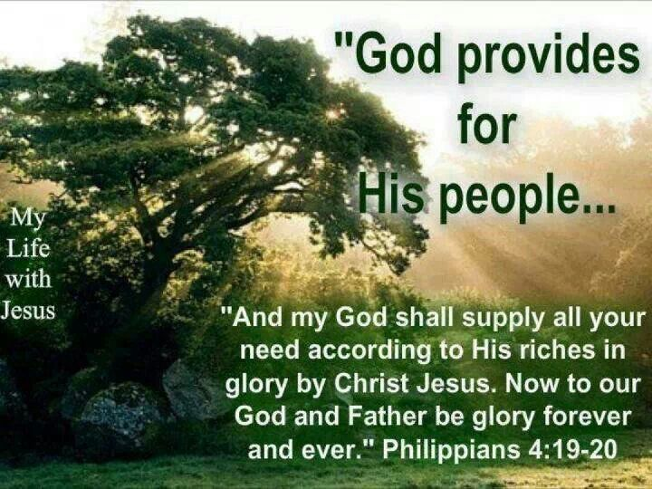 Philippians 4 19 20 And My God Shall Supply All Your Need According
