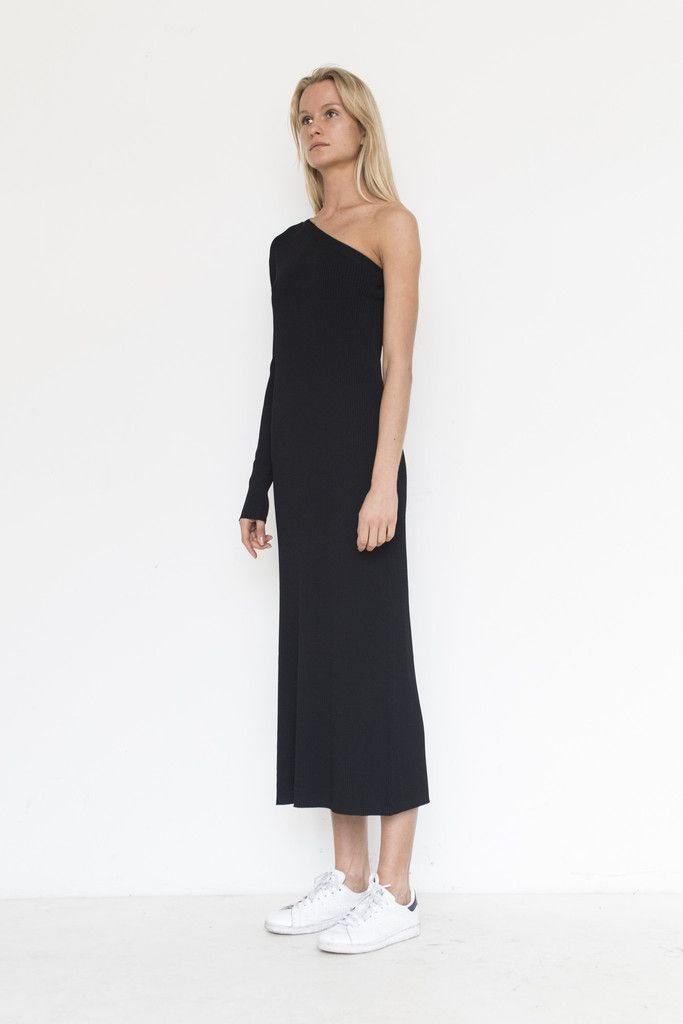Viscose Sabine Asymmetric Dress