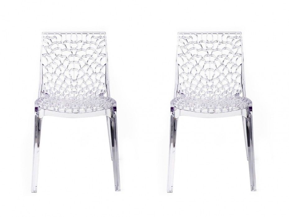Lot de 2 chaises empilables DIADEME Polycarbonate plein