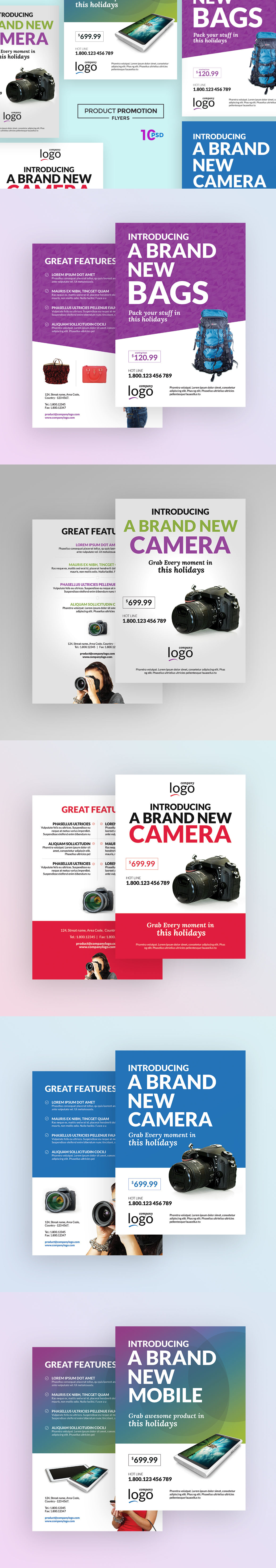 multipurpose product promotion flyer template psd