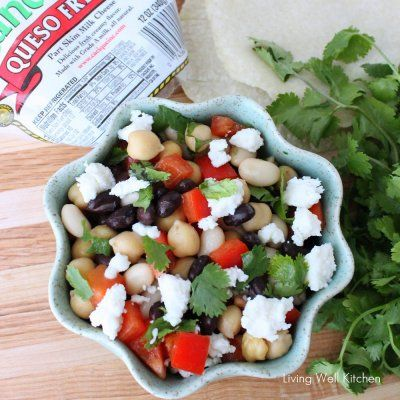 Mexican Three Bean Salad | Living Well Kitchen