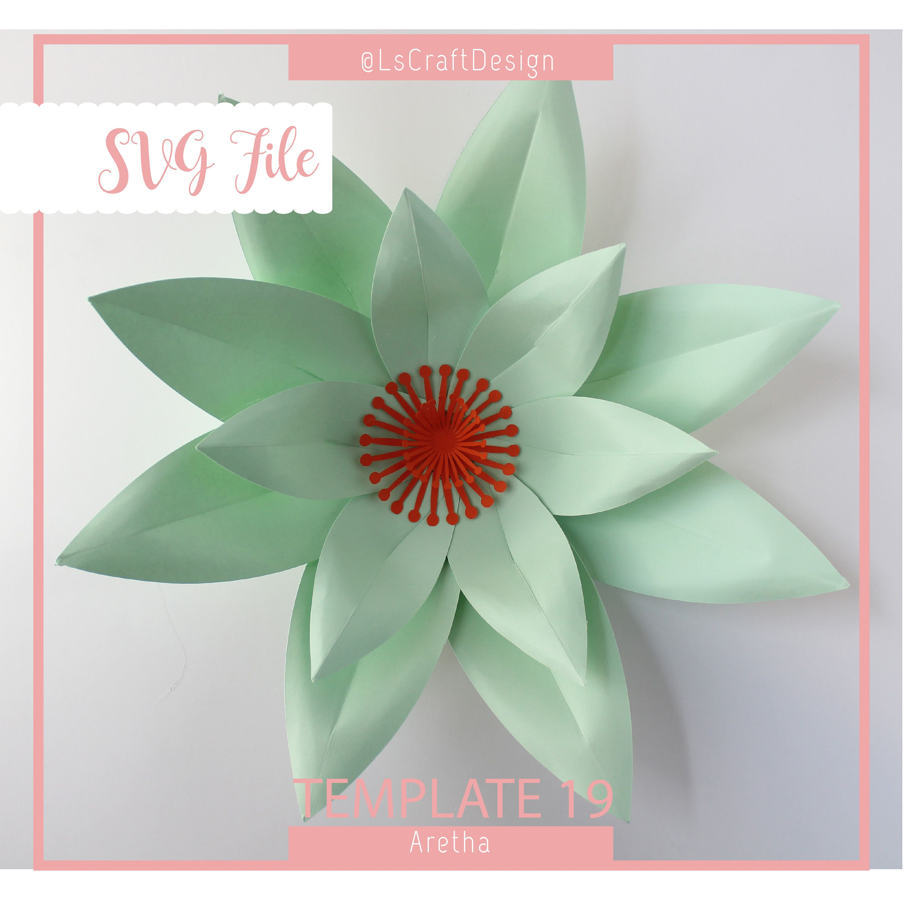 Valentines gift svg paper flower large paper flower template valentines gift svg paper flower large paper flower template tutorial large backdrop mightylinksfo