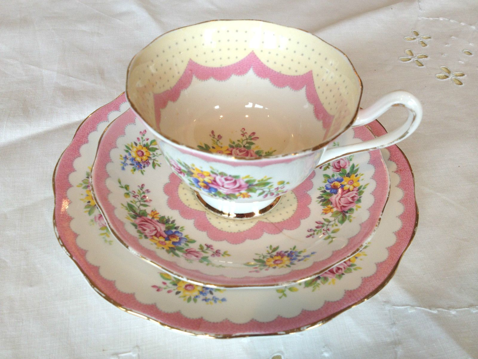 Royal albert bone china tea cup amp saucer winsome pattern ebay - Royal Albert Prudence Pink Trio Cup Saucer And Dessert Plate
