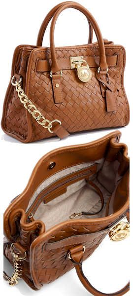 Michael Kors Hamilton East West Woven Satchel Bag
