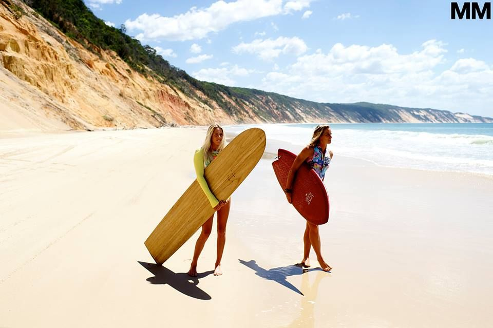 i'm forever a fan of women's surfing, and these are two of the my favorites... Laura Enever & Courtney Conlogue in Noosa, Australia.