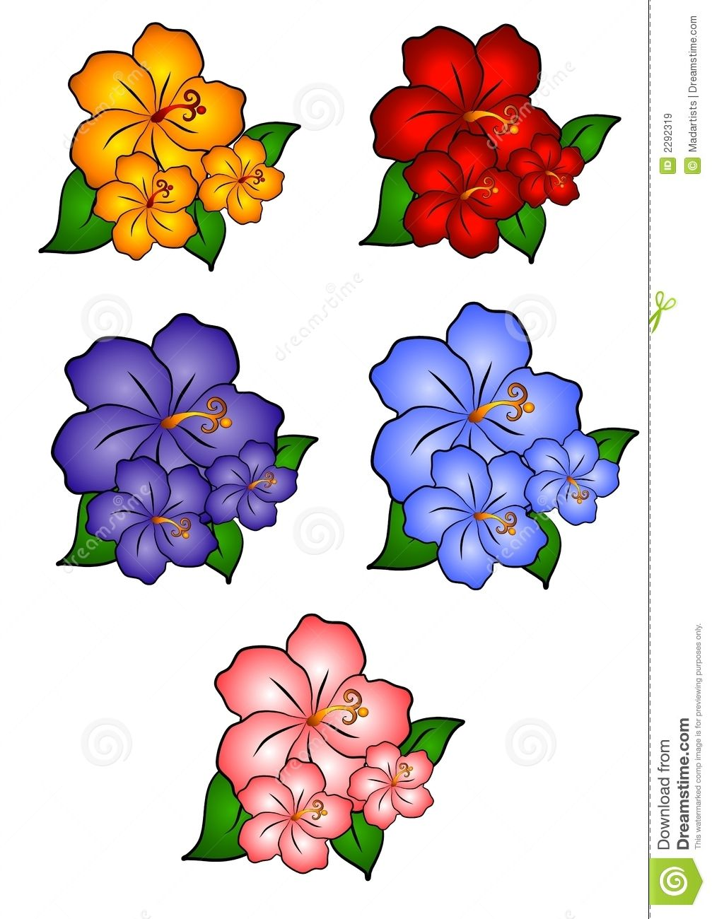 flower clip art free hawaiian flower border clip art 5 hawaiian rh pinterest com  free clip art images of spring flowers