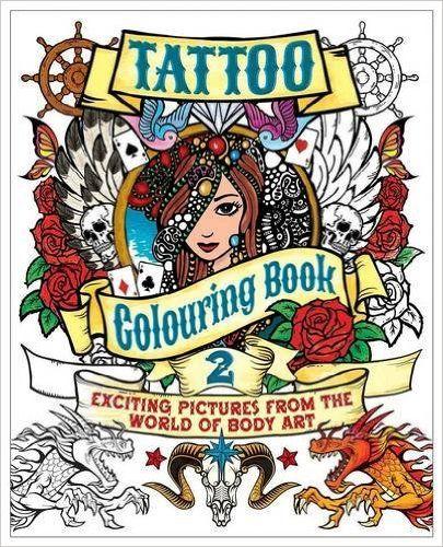 Tattoo Colouring Book 2 Amazoncouk Arcturus Publishing 9781784041830