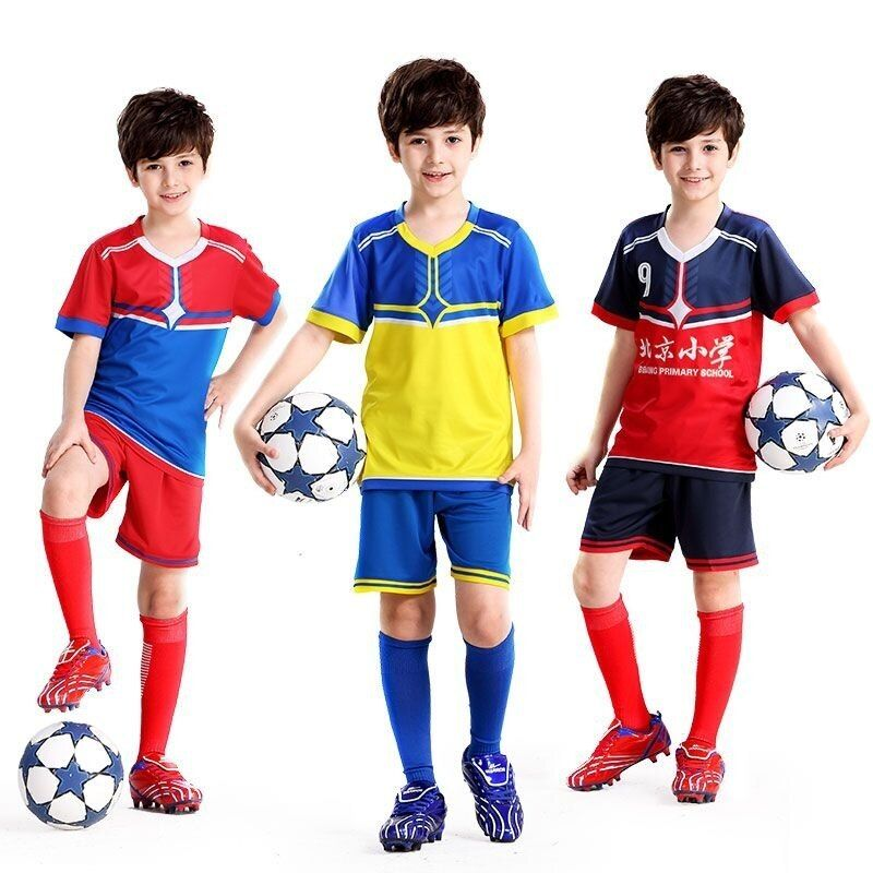 Usa Soccer Kids Jerseys 2019 Jersey Custom Football Kids Uniforms Set For Boys Team Training Shirts Breathable Spor Kids Uniforms Football Kids Training Shirts