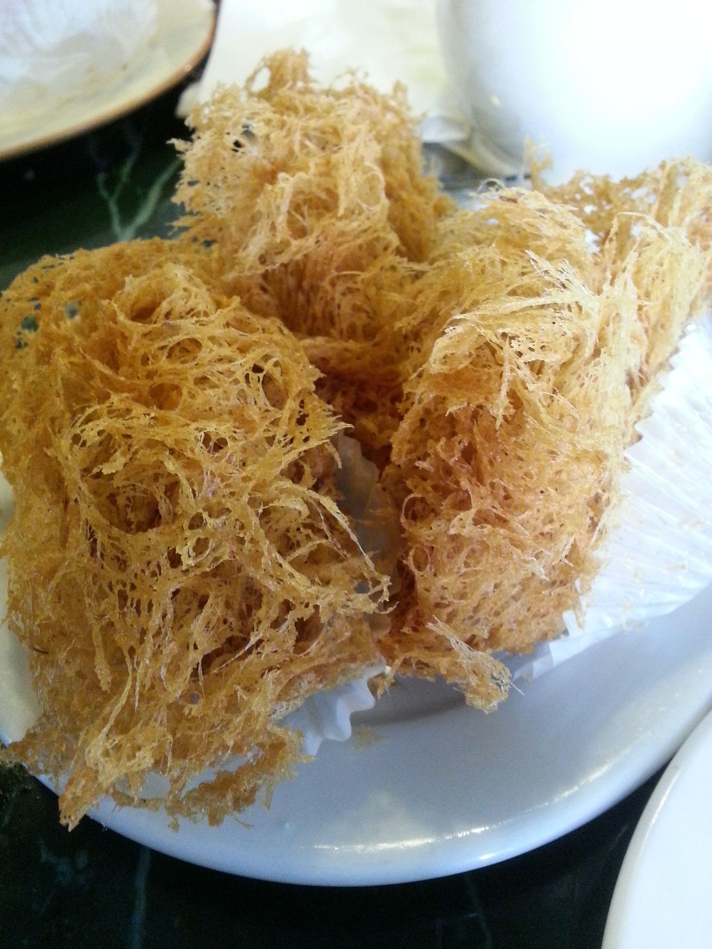 Fried taro food dim sum eat