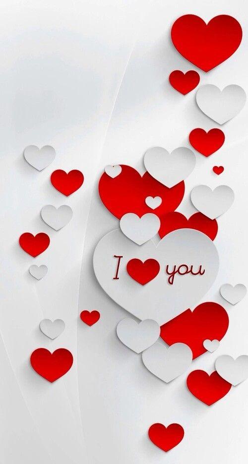 Asma🌷 | I LOVE U | papeis de parede para iPhone, Parede, Imagens de coração