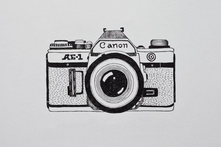 Pin De Cavansir Abdullayev En 94 Day Art Challenge Dibujo De Camara Dibujos A Lapiz Dificiles Camara De Fotos Dibujo