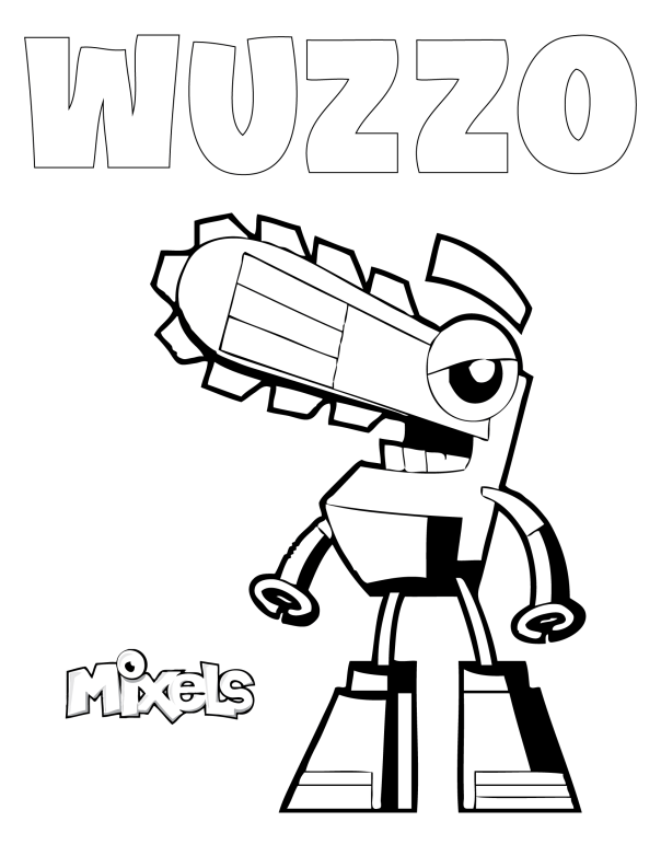 mixel coloring page my little corner Lego Mixels Pinterest