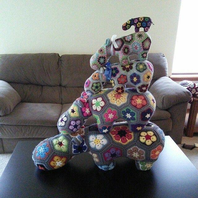 Pin von Lisa Gane auf Crochet > African Flower Motifs | Pinterest