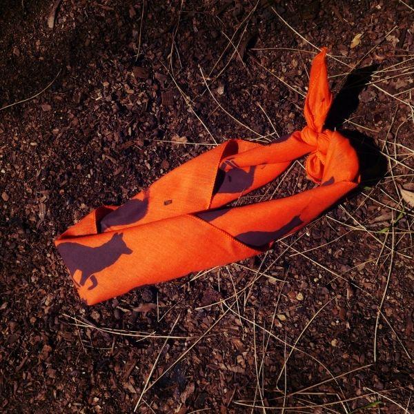 Runyon Signature Orange Bark Bandana from Runyon Canyon Apparel. Made In The USA.