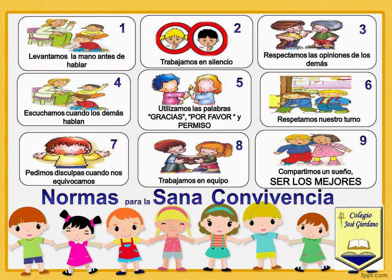 Normas de convivencia en el aula im genes para imprimir - Agencias para tener estudiantes en casa ...