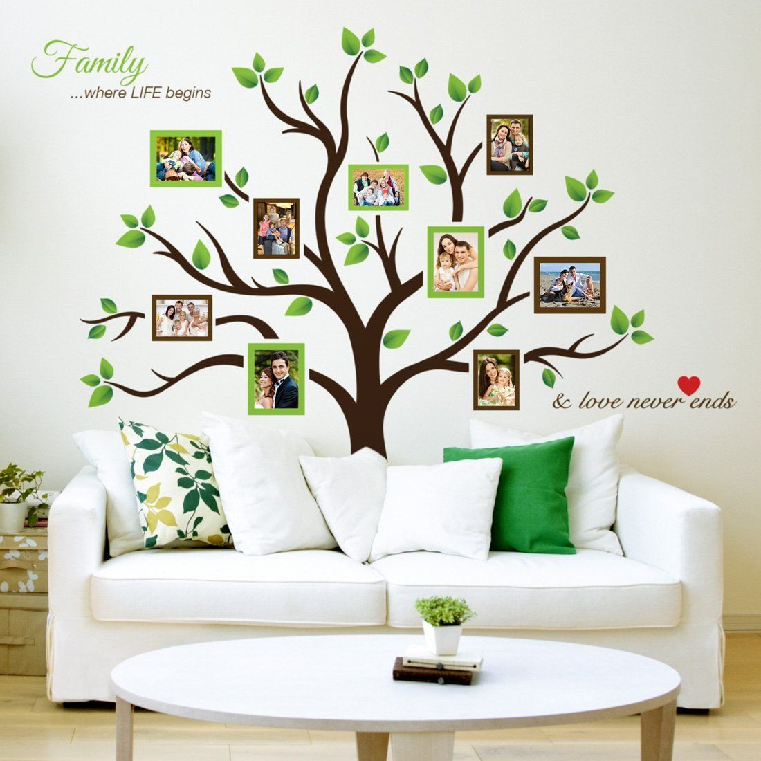 Timber Artbox Large Family Tree Photo Frames Wall Decal - The ...