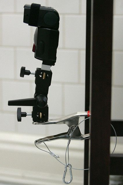 diy super clamp with strobe pinterest clamp photography