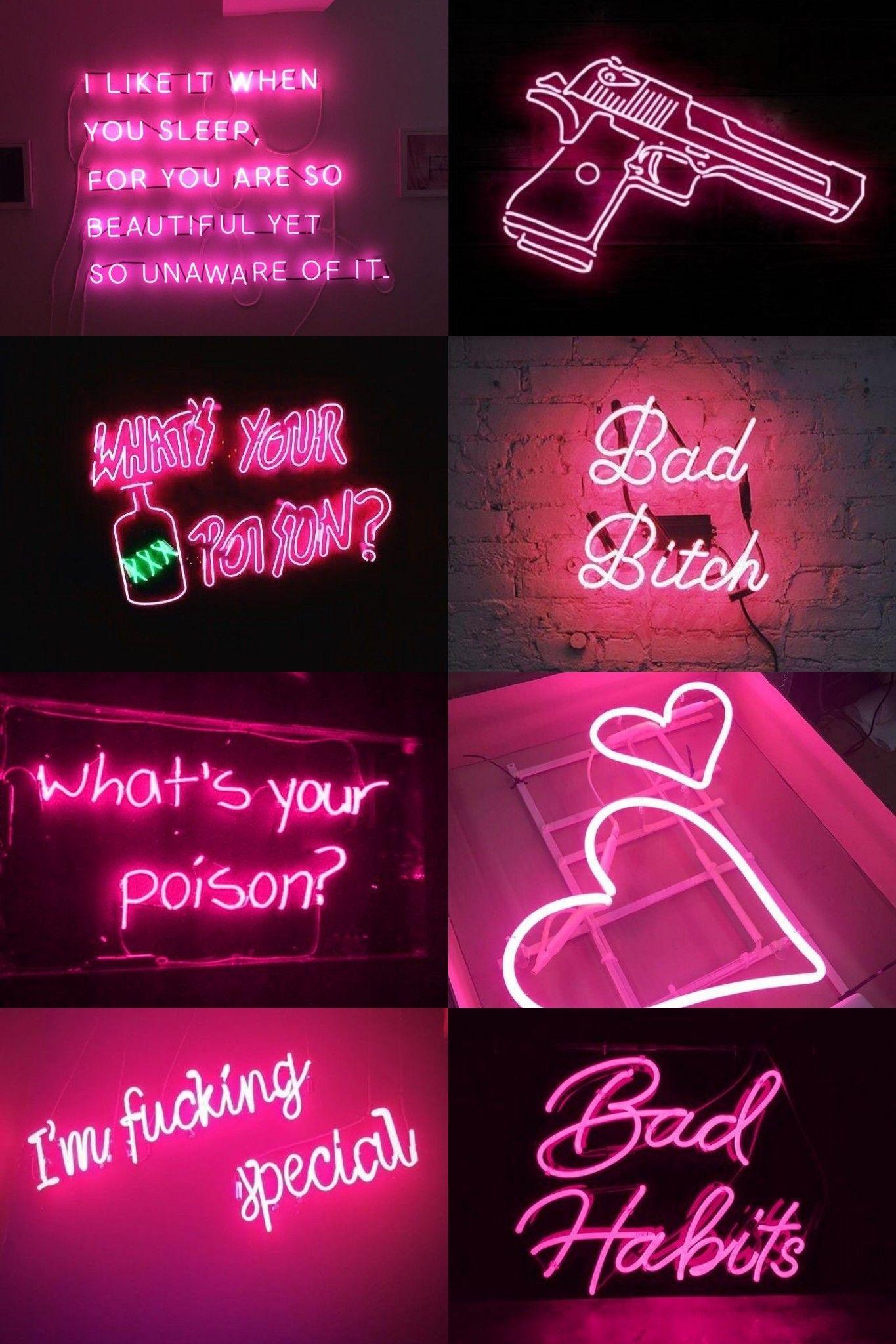 Neon Pink Aesthetic Wallpaper Aesthetic Iphone Wallpaper Pink Neon Wallpaper Pretty Wallpaper Iphone