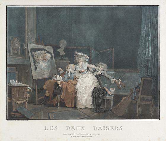 The Two Kisses Philibert Louis Debucourt France Paris 1755 1832