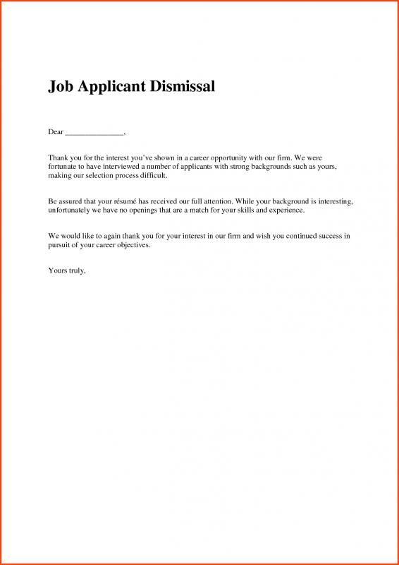 Job Offer Rejection Letter Template | Job Offer Rejection Letter Dental Operations Mngr Pinterest