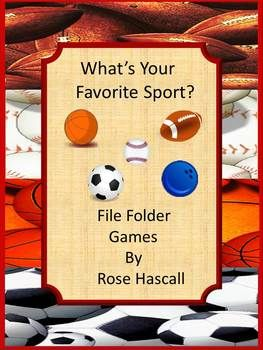 Sports Math And Literacy File Folder Games For Interactive Centers