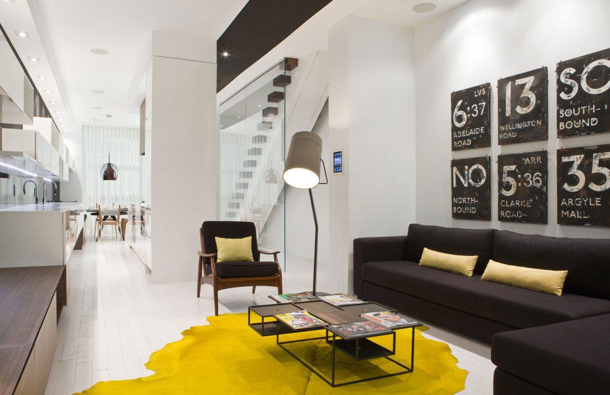 Canadian Design Candy: Vibrant Modern Model Home Design in Toronto ...